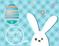 Праздник пасхи - кролик и пасхальное яйцо Стоковая Фотография RF