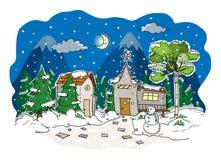 праздник подарков Рожденственской ночи много орнаментов Стоковое Изображение