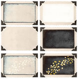 Праздник поля винтажного угла рамки фото пустой освещает верхний слой Стоковые Фото