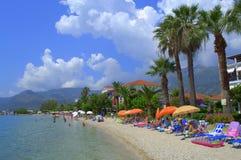 Праздник пляжа лета, Греция Стоковое Изображение