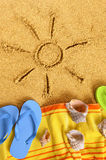 Праздник пляжа солнца лета Стоковые Фото