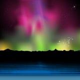 Праздник, пляж лета ночи с рассветом иллюстрация вектора