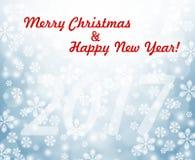 Праздник 2017 рождества предпосылки Нового Года Стоковые Изображения