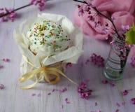 Праздничная выпечка пасхи Пасха Стоковая Фотография