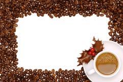 Праздничная граница кофе Стоковое Изображение RF