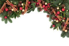 Праздничная граница рождества Стоковая Фотография