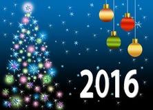 Праздничная красочная рождественская елка Стоковые Изображения