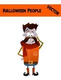 Праздничная оранжевая иллюстрация хеллоуина Гая вектора в октябре иллюстрация штока