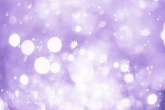 Праздничная предпосылка с естественным bokeh и яркими золотыми светами Винтажная волшебная предпосылка с цветом Стоковое Изображение RF