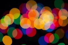 Праздничная предпосылка с красочными светами Стоковые Изображения