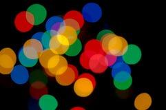 Праздничная предпосылка с красочными светами Стоковое Изображение