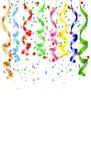 Праздничная предпосылка с серпентином и confetti Стоковое Фото