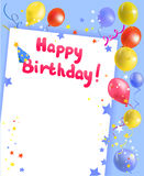 Праздничная рамка с с днем рождения Стоковые Фотографии RF