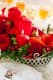 Праздничная таблица рождества Стоковая Фотография RF