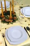 праздничная таблица установки Стоковое Фото