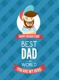 Праздничная типографская ретро поздравительная открытка стиля для da отца бесплатная иллюстрация