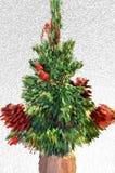 Праздничное зеленое дерево Стоковые Изображения RF