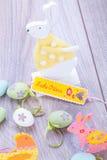 Праздничное традиционное украшение пасхального яйца Стоковое Изображение