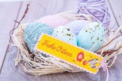 Праздничное традиционное украшение пасхального яйца Стоковая Фотография RF