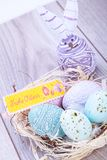 Праздничное традиционное украшение пасхального яйца Стоковое Изображение RF