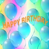 Праздничные воздушные шары, поздравительные открытки Стоковая Фотография RF