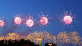 Праздничные красочные фейерверки Стоковая Фотография