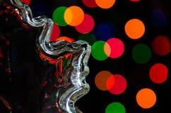 Праздничные отражения рождества во время торжества праздника Стоковая Фотография