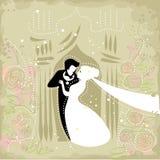 Праздничные пары свадьбы иллюстрация вектора