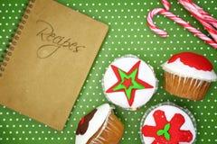 Праздничные пирожные рождества Стоковое Изображение