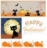 Праздничные предпосылки на хеллоуин Стоковые Изображения RF
