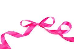 Праздничные розовые скручиваемости ленты Стоковое Изображение RF