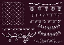 праздничные света иллюстрация вектора