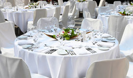 Праздничные сервировки стола Стоковая Фотография