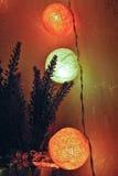 Праздничные украшения, гирлянда Стоковая Фотография