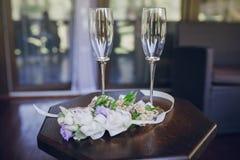 Праздничные wedding стекла стоковые изображения rf