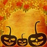 Праздничный день хеллоуина тыквы на абстрактной бумажной предпосылке Стоковые Изображения RF