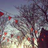 Праздничный заход солнца Стоковое Изображение RF