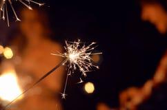 Праздничный ожог бенгальских огней Стоковая Фотография RF