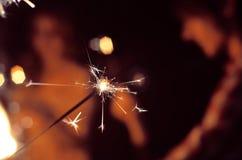 Праздничный ожог бенгальских огней Стоковое Изображение RF