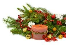 Праздничный состав рождества в деревенском стиле Стоковые Фотографии RF