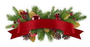 Праздничный элемент рождества гирлянды Стоковые Изображения