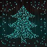 Праздничный confetti в форме ели Абстрактная бирюза b Стоковое фото RF