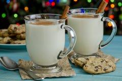 Праздничный Nog яичка с циннамоном и печеньями Стоковые Фотографии RF