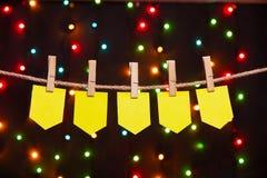 5 праздничных флагов Стоковые Фотографии RF
