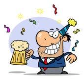 праздновать бизнесмена успешный Стоковые Изображения RF