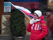 Праздновать годовщину аннексирования Крыма к России Стоковая Фотография RF