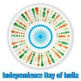 Праздновать День независимости Индии Стоковые Фото