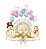 Праздновать Новый Год 2018 иллюстрация вектора