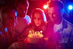 праздновать дня рождения Стоковые Изображения