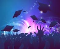 праздновать студент-выпускников бесплатная иллюстрация